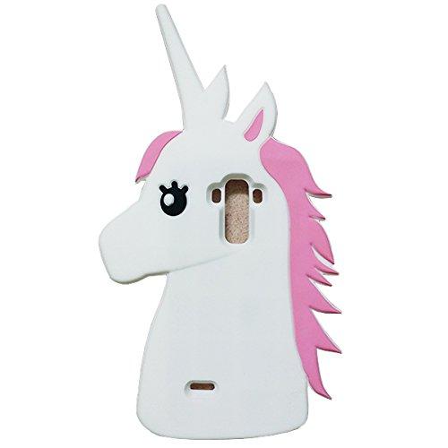 Jicheng Electronic LG G Stylo LS770 Unicorn Case,3D creative Unicorn Horse Silicone Case for LG G4 Note LS770/LG G Stylo LS770 MS631 White at Gotham City Store