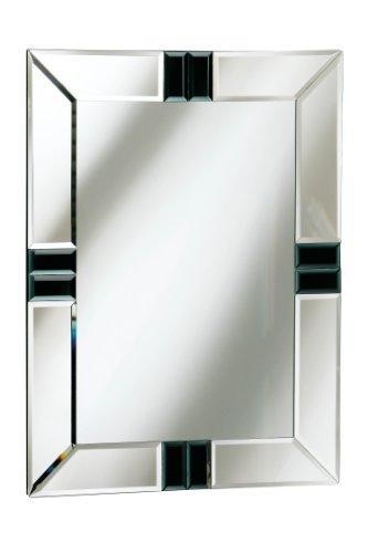 Premier housewares miroir rectangulaire bords biseaut s for Miroir rectangulaire noir