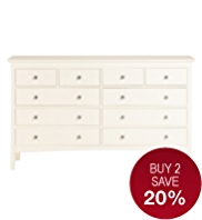 Hastings Ivory 10-Drawer Chest