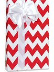 Red & White CHEVRON STRIPE Gift Wrap Wrapping Paper - 16ft Roll