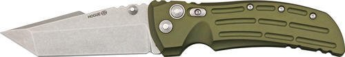 Hogue Extreme Series Knife Aluminum Frame 4-Inch Tanto Blade Tumble Finish, Matte OD Green