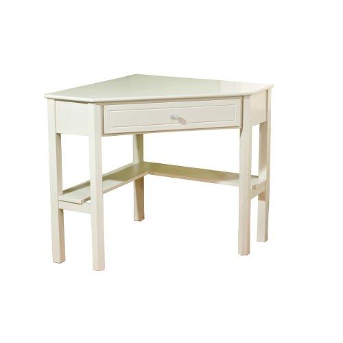 Tms Corner Desk, Antique White Finish front-616277