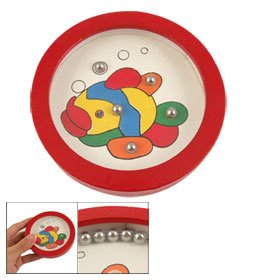 31rXryTWWzL Buy  Como Child Colorful Fish Round Red White Wooden Balance Toy