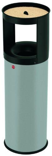hailo-combined-waste-bin-and-ashtray-profiline-care-25l-silver-grey