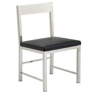 Black High Back Dining Chair-Black High Back Dining Chair