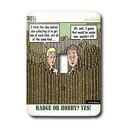 Rich Diesslin KNOTS Scout Cartoons - Coin Collecting - Badge or Hobby - Light Switch Covers - single toggle switch