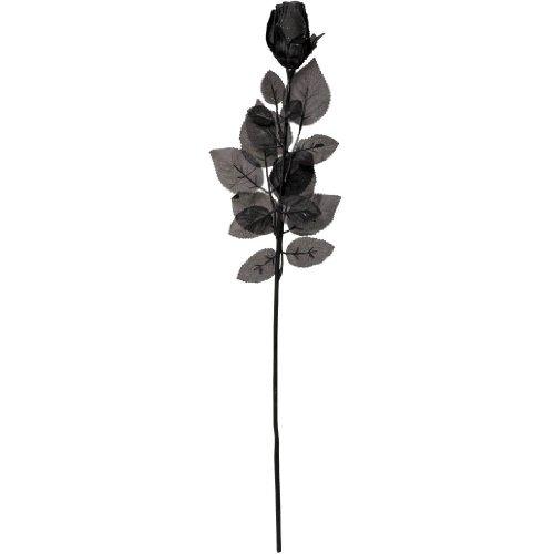 Black Fabric Rose 24in