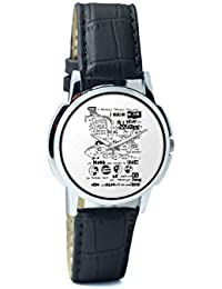 BigOwl Psychedelic Reality Painting Analog Men's Wrist Watch 2114874526-RS1-W-BK1