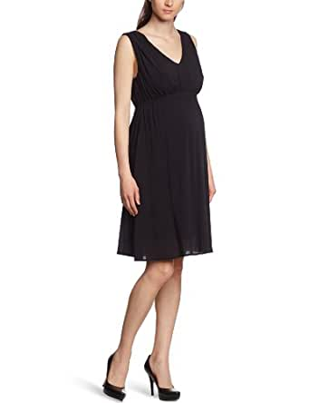 MAMALICIOUS Damen Umstandsmode Kleid 20001595/RIA WOVEN DRESS NF, Gr. 36 (S), Schwarz (BLACK)