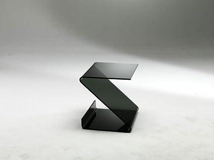 Mod. Ziggy-Mesa de centro en cristal servetto curvado