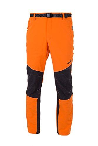 Izas Stretch Coruna, Pantaloni da Trekking da Uomo, Multicolore (Arancione/Nero), M