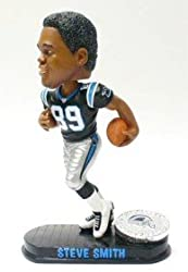 Carolina Panthers Steve Smith Forever Collectibles Black Base Edition Bobble Head