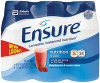Ensure Complete Balanced Nutrition Drink with Strawberry - 8 Oz X 24 Ea