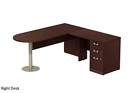 Bush QUA052 L-Shaped Peninsula Desk Harvest Cherry Left Desk
