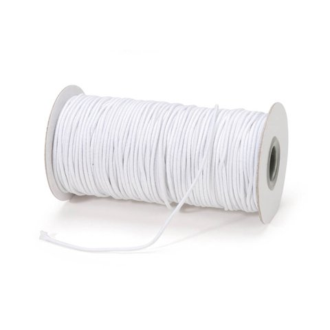 2mm Elastic Cord - White - 72 yards