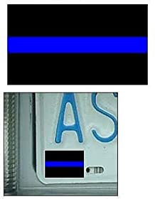 Thin Blue Line Reflective License Plate Decal