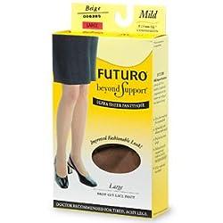 Futuro Ultra Sheer Pantyhose, Brief Cut Lace, Mild Compression, Small - Beige