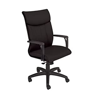 National Office Furniture Respect High Back Executive Office Chair, Black Faux Leather