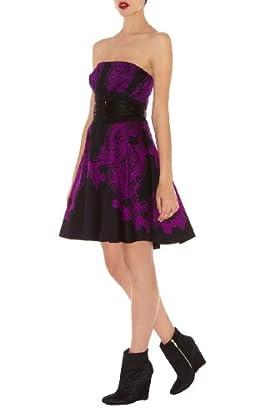 Lace Print Prom Dress