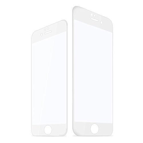 ANTSIR iPhone6 iPhone6s 4.7インチ 用 フルカバー Real 3D Touch対応 専用液晶保護フィルム 強化ガラスフィルム スペースグレー用 0.2mm 硬度9H なめらかエッジ 全面フルカバー 3D曲面形状 ラウンドエッジ加工 気泡ゼロ 耐指紋 撥油性 99%高透過率 耐衝撃 飛散防止処理 Glass (ホワイト)