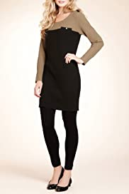 Autograph Ribbed Military Dress with Wool [T50-1088-S]