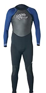 Hyperflex Wetsuits Men's Access 3/2mm Full Suit,Black/Blue,Large