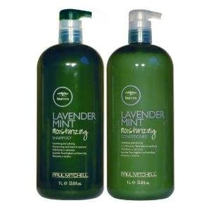 Paul Mitchell Lavender Mint Moisturizing Shampoo & Conditioner 1L (33.8oz)each W/ Pumps