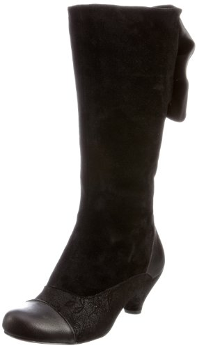 Bed Of Roses Women's Bye Bye Betty Black Side Zip Boots 3893-3A 7.5 UK, 41 EU