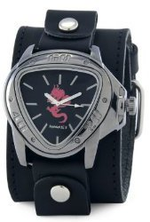 Nemesis #LBB929R Men's Red Dragon Leather Cuff Watch