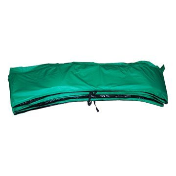 Green-Vinyl-Trampoline-Safety-Spring-Pad-15-Round-with-4-Skirting