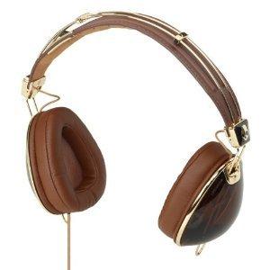 Skullcandy S6AVDM-157 Over-Ear Headphone with Mic (Brown/Gold)
