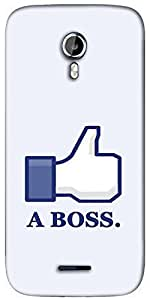 Snoogg Like a Boss Designer Protective Back Case Cover For Micromax A117