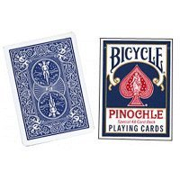Bicycle Pinochle Cards - Poker Size (Blue)