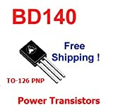 5 pcs of BD140 TO-126 PNP power transistors NEW - Free Shipping