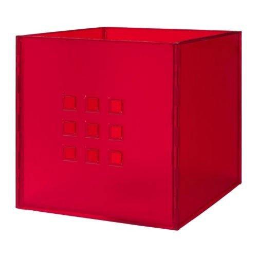 Ikea box lekman rosso per expedit scaffali scatole - Scatole per armadi ikea ...