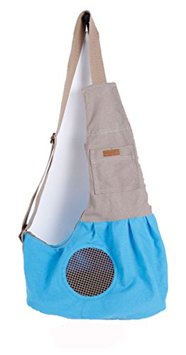 GoldWorld Oxford Cloth Sling Pet Dog Cat Carrier Bag Single Shoulder (Blue) for 2-4kg Pet