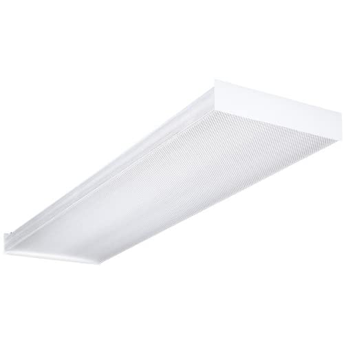 432 120 1 4 gesb 4 foot 4 light t8 fluorescent ceiling fixture white. Black Bedroom Furniture Sets. Home Design Ideas