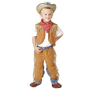 Click to buy Boys Brown Size 6/8 Western Dressup Halloween Costume Cowboy Set - no hatfrom Amazon!