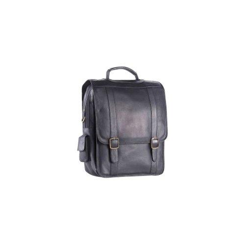Clava Upright Porthole Notebook Briefcase - Backpack - Leather - Vachetta Tan - Vachetta Black