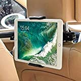 Car Headrest Mount for Nintendo Switch,Universal Car Mount Holder for Nintendo Switch, iPad, iPhone,Amazon Kindle Fire,Fits all 4'' - 11'' Smartphones and Tablets (Black) (Color: black)