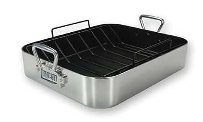 Bialetti Extra Large Aluminum Nonstick Roaster 07150