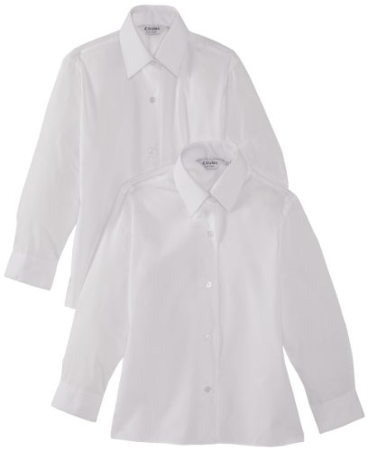 Trutex Girl's Long Sleeve School Blouse, White, 16+ Years (Manufacturer Size: 40
