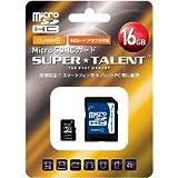 Super Talent/スーパータレント microSDHCカード class10 16GB 日本語パッケージ ST16MSC0A
