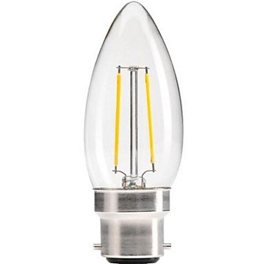 Rayshop - Dimmable B22 4W Cob Epistar 400Lm 2800-3200K Warm White Led Filament Candle Bulb(Ac 220V)
