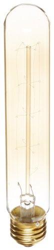 Heirlume Hl-3460Wpack1 Vintage Edison Bulb 60-Watt With Medium Base And Tubular Shape, 1.2-Inch X 7.3-Inch, 1-Pack