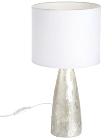 conical capiz table lamp in mother of pearl lighting. Black Bedroom Furniture Sets. Home Design Ideas