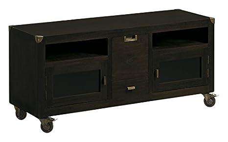 Moycor Industrial - Mueble para TV, 2 cajones, 2 puertas + ruedas, 120 x 40 x 55 cm