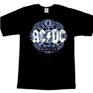 AC/DC 'Black Ice' circle grey logo black t-shirt (X-Large)
