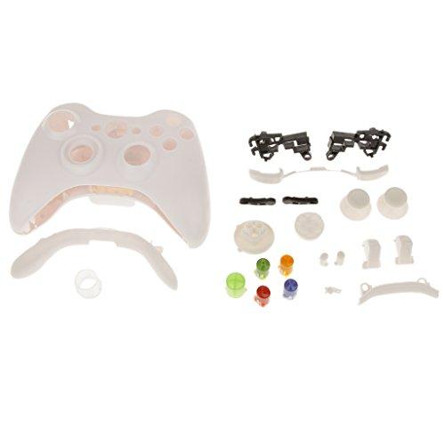 Etui de Plein Bouton Cas Mod Remplacement Kit pour Xbox 360 Contrôleur - Blanc