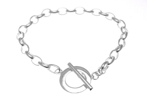 Mckenzie Silver Belcher Bracelet with T-Bar